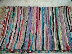 Vintage 1960s Woven Striped Mexican Table Placemats 4 by BlackRain4, $24.99