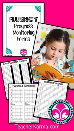 Fluency Progress Monitoring.  Assessment forms to see you students growth in reading.  TeacherKarma.com