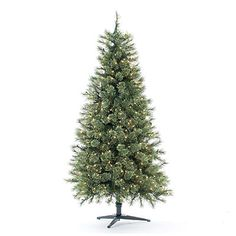 6.5' Artificial Christmas Tree, Deluxe Cashmere Mix at Big Lots ...