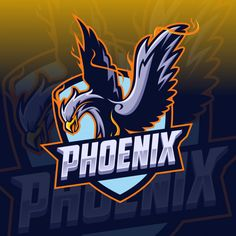 Phoenix Mascot E-sport logo design by MonkeyZen on Dribbble Dont Touch My Phone Wallpapers, Game Development Company, Eagle Art, Game Logo Design, Animal Symbolism, Bird Logos, Business Logo, Art Logo, Design Art