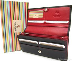 Ladies Purse Wallet Real Leather Black Red New in Gift Box Visconti #hot #Wallet #Ladies #Gift