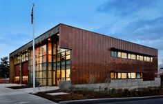 Seattle Modern Fire Station - Nice Facades, Copper exterior