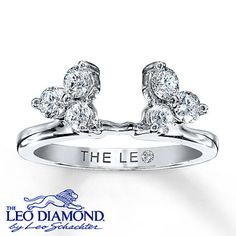 Add brilliance to your diamond solitaire with six near-colorless Leo Diamonds set in 14K white gold. With a total diamond weight of 3/4 carat, each Leo Diamond on this Leo Diamond enhancer ring is independently certified and the unique laser-inscribed Gemscribe® serial number ensures your peace of mind. The diamond solitaire is sold separately.
