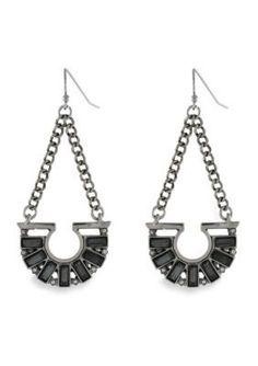 BCBGeneration  Chain Drop Earrings