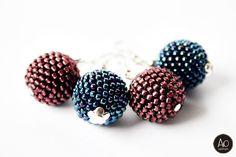 aga opalinska: marzec 2014 Beadwork, Beading, Aga, Stud Earrings, Jewelry, Beads, Jewlery, Jewerly, Pearl Embroidery