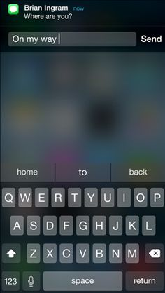 Messages Quickly reply to a message without leaving an app. #interactivenotifications #ios8
