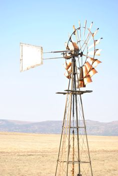 South African Iconic landscape African Drum, Under The Rainbow, African Theme, Out Of Africa, Grass Fed Beef, Windmill, South Africa, Beautiful Places, Alternative Energy