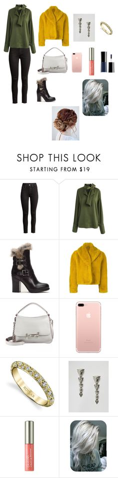 """""""Irade"""" by aydannagiyeva ❤ liked on Polyvore featuring Chicwish, Frye, Jean-Paul Gaultier, Tod's, Harry Kotlar, House of Harlow 1960, Origins and Giorgio Armani"""