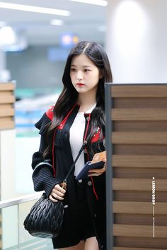 Photo album containing 12 pictures of Wonyoung Fashion Tag, Daily Fashion, Airport Fashion Kpop, Uzzlang Girl, Woo Young, Japanese Girl Group, Korean Entertainment, Bts And Exo, Airport Style