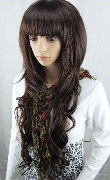 2011 New Sexy Long Curly natural brown Hair Wig/wigs+gift 19.00