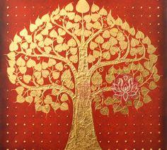 Tree Designs, Wall Art Designs, Wall Design, Bodhi Tree, Buddha Art, Buddha Painting, Tanjore Painting, Indian Folk Art, Tree Wall Decor