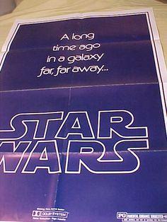 Star Wars 1sh Teaser B 77/210 Fabulous vintage Movie by MAYSVTG, $619.95