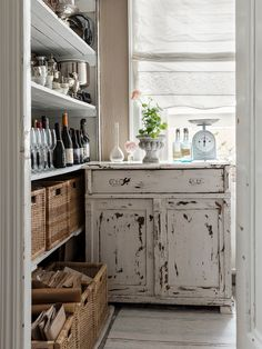 organized rustic pantry