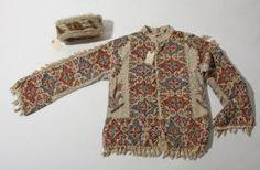 Vintage Iranian Block Print Shirt and Camel Hair Hat