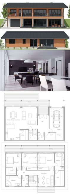 Sloping lot house plan, small house plan