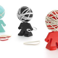 Say hello to your new office mate! Rafael rubber band holder - Useful & Glamour Accessories Interior Design Process, Office Accessories, Unusual Gifts, Rubber Bands, Shoe Storage, Novelty Gifts, Cool Gifts, Stocking Stuffers, Decorative Accessories