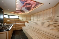 The Finnish Classic Sauna is heated to between 80 and 110 degrees centigrade and kept at 10% humidity. Rest on polished wooden benches and sweat out impurities. #spa, #wellness, #travel