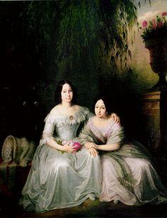Isabella II and Luisa Fernanda