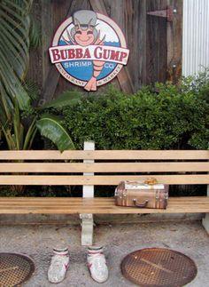 Lahaina Maui Photos: Bench Outside the Bubba Gump Shrimp Company