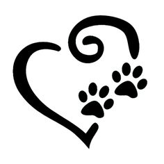 Dogs leave paw prints on our hearts. Paw Print Image, Paw Print Art, Paw Prints, Paw Print Drawing, Silhouette Projects, Silhouette Design, Dog Silhouette, Dog Tattoos, Tatoos