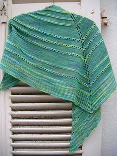 Green berries shawl