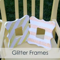 Our Thrifty Ideas: {Tutorial} Glitter Frame