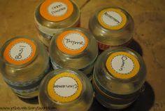 Repurpose baby food jars into spice jars!