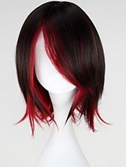 Synthetic None-lacewigs Hair Extensions & Wigs Fei-show Medium Wavy Wig Synthetic Heat Resistant Fiber Inclined Bang Cos-play Hair Costume Peruca Party Picture Color Hairpiece Exquisite Craftsmanship;