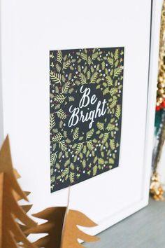 Lámina imprimible // Printable Christmas Art Print from @cydconverse