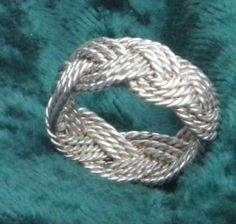 Sliver Turks Head Ring by TheStringRing on Etsy