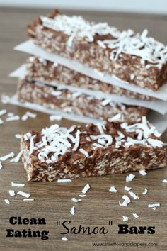 Clean Eating: Samoa Bars - Stilettos and Diapers