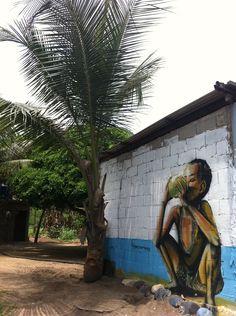 pintura en Playa de Chuao, Estado Aragua - Venezuela