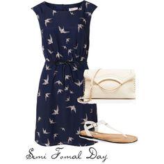 semiformal day wedding attire by thoughtsbyapetitebrunette on Polyvore