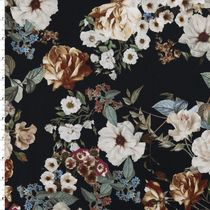 Masterpiece Floral on Black Stretch Cotton Sateen by 7 for all Mankind