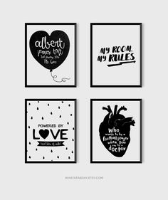 Print ideas for kids rooms and nurseries. Available in different sizes and  colours. Designs by whatafabday  #nurseryprints #kidsroomdecoration #kidsroom #nursery #prints #printableprints #wallart #etsyprints #kidsprints #monochrome #blackandwhite #whatafabday