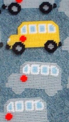 School Bus Ornament/Magnet Pattern
