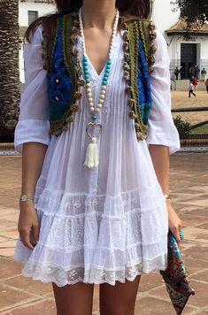 Boho Fashion - Boho Dress and Accessories Cute Dresses, Casual Dresses, Casual Outfits, Summer Dresses, Women's Summer Fashion, Boho Fashion, Womens Fashion, Fashion Trends, Chic Dress