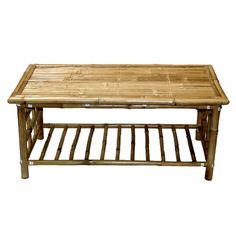 A bamboo coffee table immediately lends a tropical feel to a space. | $110