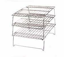 3 Pc. Stackable Nickel-Plated Cooling Grid