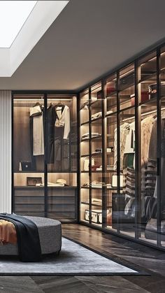 Poliform modern wardrobe collection claims prominence in the night area. Italian furniture design in modern and contemporary style. Wardrobe Room, Wardrobe Design Bedroom, Modern Bedroom Design, Small Wardrobe, Sliding Wardrobe, Dressing Room Decor, Dressing Room Design, Wardrobe Door Designs, Closet Designs
