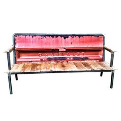 Brings a whole new meaning to tailgate party! Blue Collar Bench Chevy Red, $675, now featured on Fab.