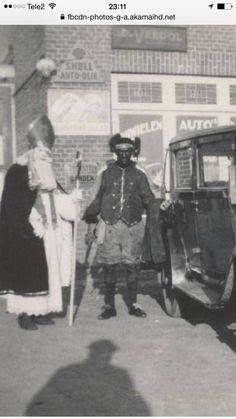 Sinterklaas en zwarte Piet rond 1940