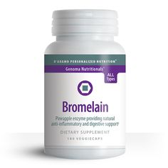 Bromelain is widely known as a digestive enzyme and can be useful for bloating, gas, and to help maintain healthy digestive function. Bromelain may also help promote joint comfort, especially after physical exertion or a tough workout. #bloodtype #diet #workout #pineapple