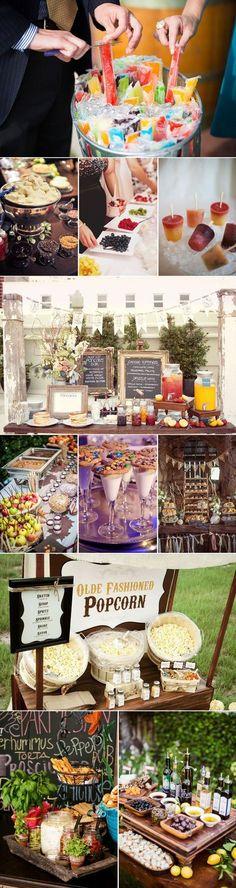 Süße und Salzige Food Bar Ideen für Hochzeiten und Partys