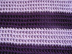 Soft Purple Baby Blanket Free Crochet Pattern Materials: H hook (or hook best suited to yarn you are using) Needle to weave in ends I used ww Caron Simply Soft but any weight yarn should do. You will likely need to increase or decrease the foundation chain to make a blanket the size you want. I …
