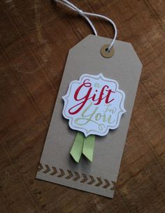 A Gift for You Christmas Gift tagblog  Stampin' Up!