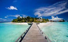 Ferieninsel, Nord-Male-Atoll, Bungalows, Palmeninsel, Badeferien