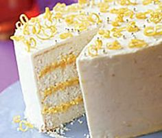 Early icebox cakes were festive chilled desserts made in molds with layers of cake (be it angel food, sponge cake, or ladyfingers) and custard or cream. Here, slices of angel food cake are layered with a luscious lemon mousse right in the cake pan.