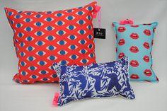 almohadones estampados - diseños artísticos - 40cm x 40cm, 140$ / para el azul