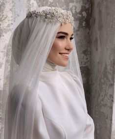 Wedding Hijab Styles, Plus Wedding Dresses, Muslim Wedding Dresses, Princess Wedding Dresses, Wedding Attire, Bridal Dresses, Wedding Gowns, Bridal Hijab, Hijab Bride